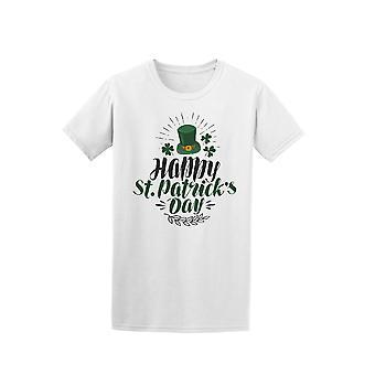 Happy St Patrick's Day Irish Top Hat Tee - Image by Shutterstock