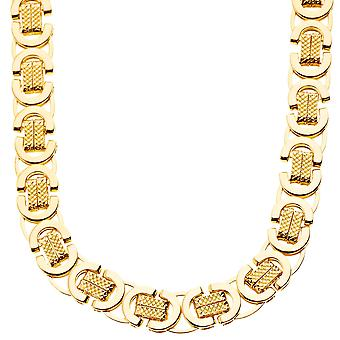 Iced Out Massiv Hip Hop Kette - BYZANTINE 10mm gold