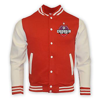 Kroatië College Baseball Jacket (rood) - Kids