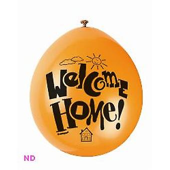 "'WELCOME HOME' 9"" globos de látex (10)"