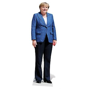 Life-sized cardboard cutout of Angela Merkel