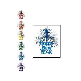 Feliz año nuevo fuegos artificiales larguero decoración - Multi color