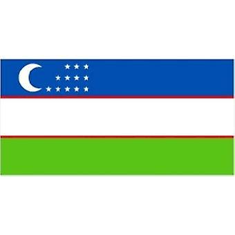 Oezbekistan vlag 5 ft x 3 ft met oogjes