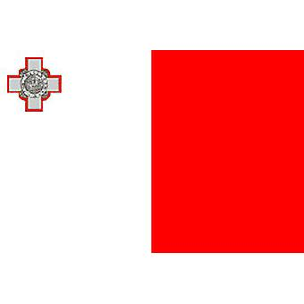 Malta vlag 5 ft x 3 ft met oogjes voor verkeerd-om
