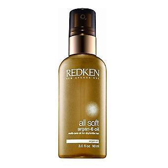 Redken All Soft Argan-6 multi-soins huile pour les cheveux secs cassant 90 ml
