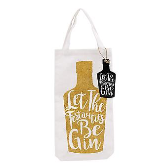CGB Giftware Let The Festivities Be Gin Bottle Bag