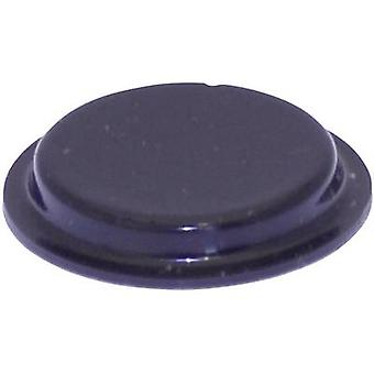 TOOLCRAFT PD2204SW Foot self-adhesive, circular Black (Ø x H) 19.7 mm x 3 mm 1 pc(s)