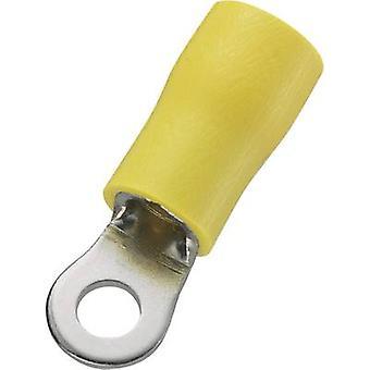 Conrad osat 746594 rengas terminaalin poikkileikkaus (maksimi) = 6 mm² reikä Ø = 3,7 mm osittain eristetty keltainen 50 PCs()