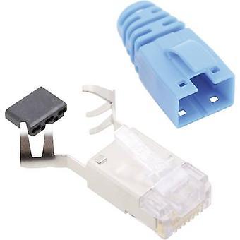 BEL Stewart Connectors SS39BLE SS39BLE RJ45 Connector CAT 6 8P8C RJ45 Plug, straight Blue