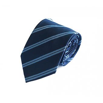 Krawat krawat krawat krawat 8cm niebieski jasny niebieski pasiasty Fabio Farini
