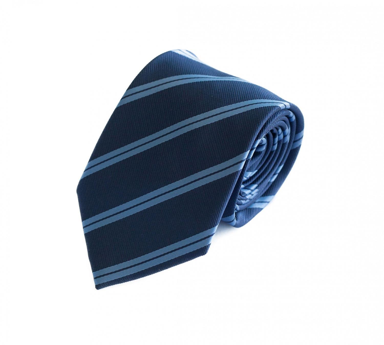 Tie tie tie tie 8cm Blue light blue striped Fabio Farini