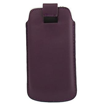 スライド カバーは濃い紫でモバイル ケース バッグ