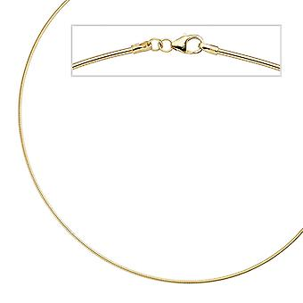 Necklace 925 sterling silver gold gold plated 1,5 mm 50 cm chain necklace