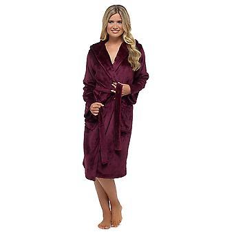 Dames superzacht Warm Fleece capuchon Wrap Shimmer Over badjas, badjas