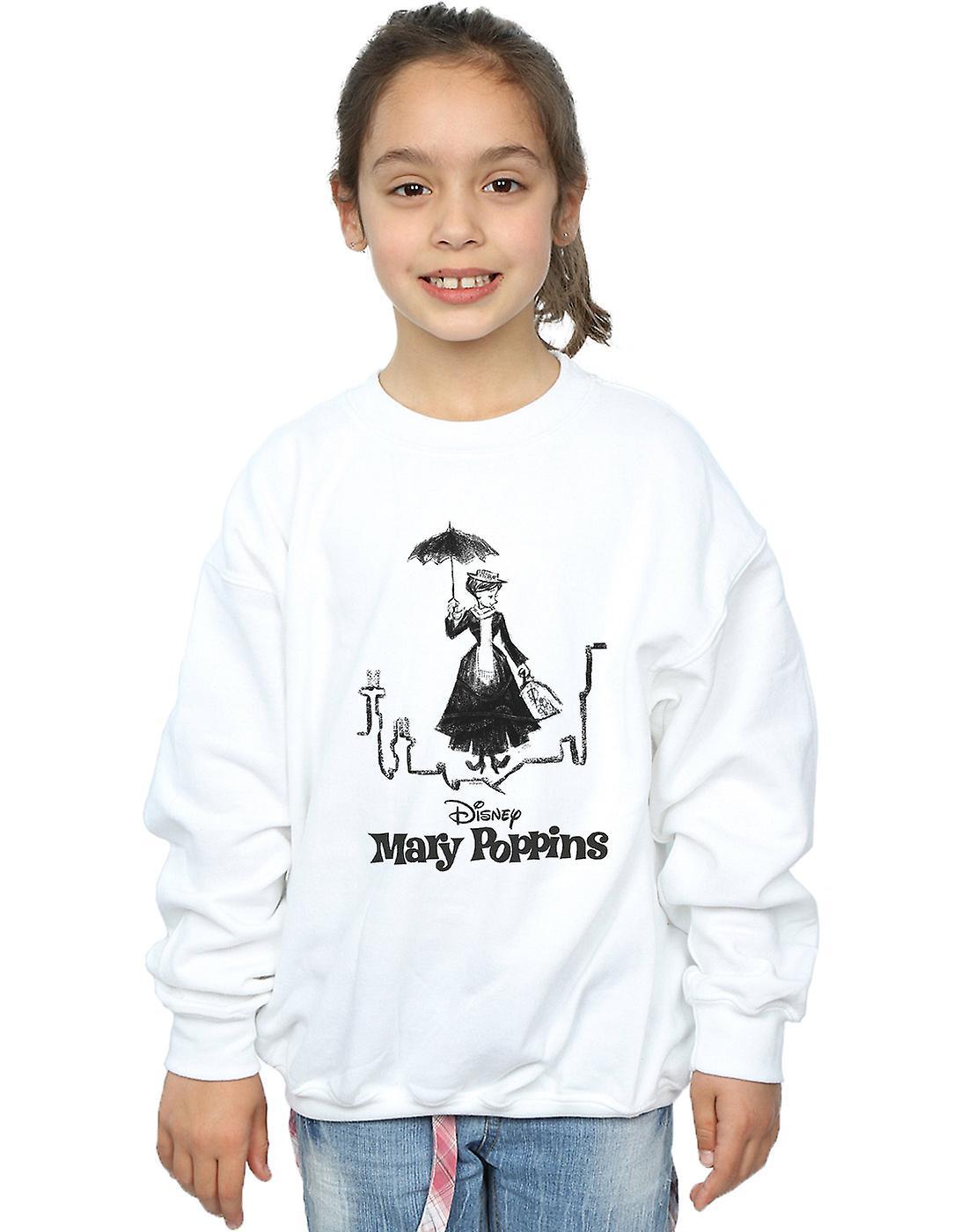Disney Girls Mary Poppins Rooftop Landing Sweatshirt
