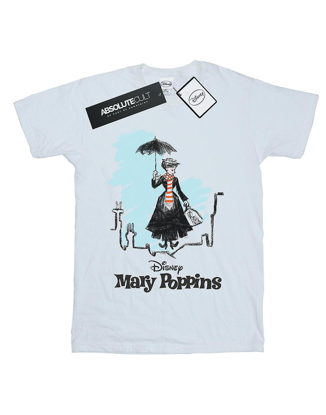 Disney Boys Mary Poppins Rooftop Landing Colour T-Shirt