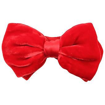 Gravatas de Knightsbridge veludo laço - vermelho