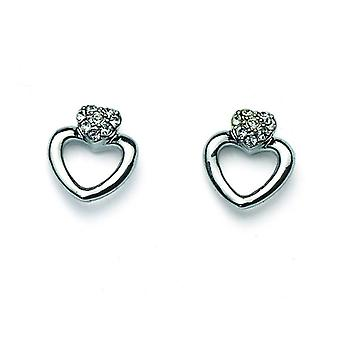 Oliver Weber Post Earring Cuore Rhodium Crystal