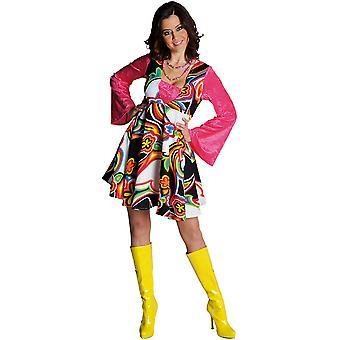 Vrouwen kostuums vrouwen Fantasy 70 's jurk