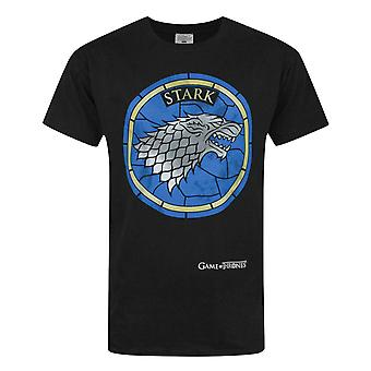 Game Of Thrones Stained Glass Stark Men's T-Shirt Black