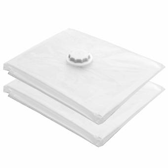 2 x Large 80 x 100cm Vacuum Storage Space Saving Vac Bag Clothes Bedding
