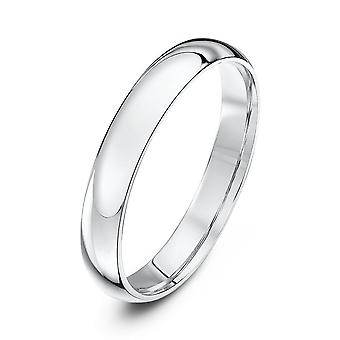 Star Wedding Rings Palladium 500 Light Court 3mm Wedding Ring