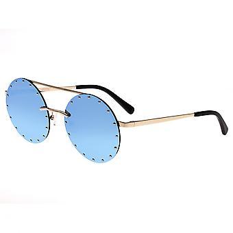 Bertha Harlow Polarized Sunglasses - Gold/Blue