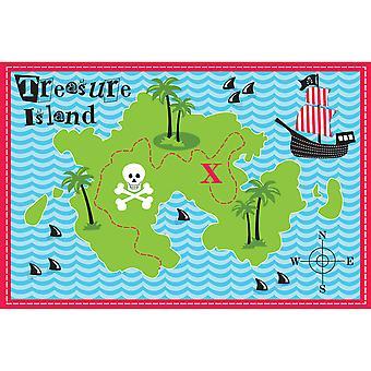 Country Club Kids Mat, Treasure Map