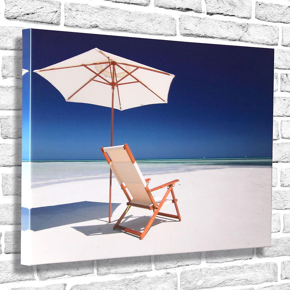 Photo Canvas Chaise Longue, Wall Art 90 x 60 cm Attached to Real Wooden Framework