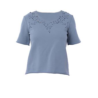 Ermanno Scervino D342l331hlm73917 Women's Blue Cotton T-shirt