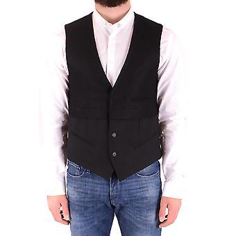 Antony Morato Exzbc147001 Men's Black Wool Vest