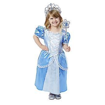 Barnens flickor Melissa & Doug Royal Princess fancy Dress kostym ålder 3-6