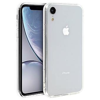 Tough rear clear case + shock absorbing silicone bumper for Apple iPhone XR