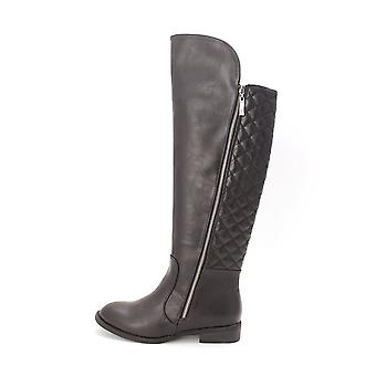 New Directions Womens Gwyneth Almond Toe Knee High Fashion Boots