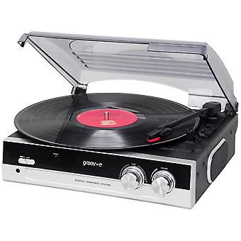 Groov-e serie Retro vinilo tocadiscos con altavoz integrado - negro GVTT01/BK