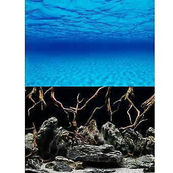 Marina Seascape / Natural Mystic Aquarium Background 24inch High