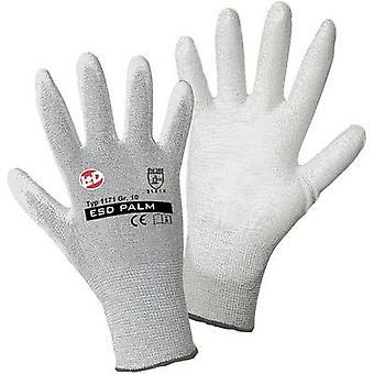 L+D worky ESD Nylon/Carbon-PU 1171 Nylon Protective glove Size (luvas): 10, XL EN 388:2016 CAT II 1 Pair