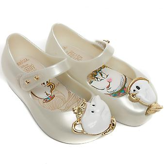Melissa Shoes Mini Ultragirl Beauty 18 Tea Party Shoes, Pearl