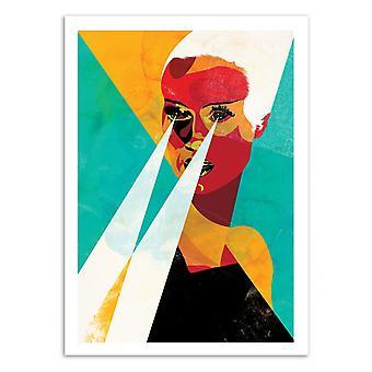 Kunst-affiche-uitgave 50 b.v.-het portret van de vrouw-Alvaro Tapia 50 x 70 cm