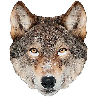 Wolf Animal Single 2D Card Party Fancy Dress Mask