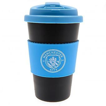 Manchester City silikon Grip Travel mugg