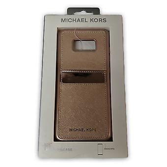 Original Michael Kors Saffiano Leather Case for Galaxy S8 Plus - Rose Gold