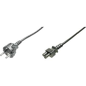 Digitus stroomkabel [1x PG plug-1x C5 Mickey Mouse connector] 1,20 m zwart