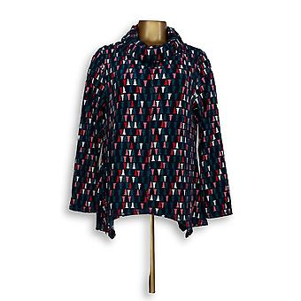 Carole Hochman Donne's Sleepshirt Waffle Fleece Novelty Navy Blue A311258