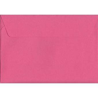 Flamingo Pink Peel/Seal C6/A6 Coloured Pink Envelopes. 120gsm Luxury FSC Certified Paper. 114mm x 162mm. Wallet Style Envelope.