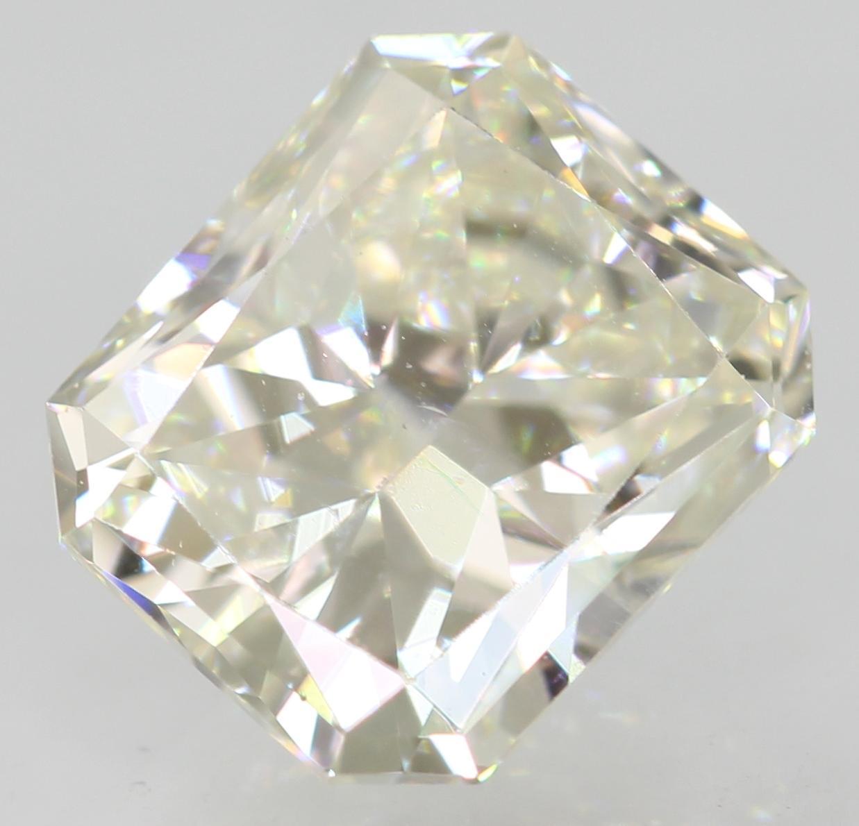 Certified 1.12 Carat H VVS1 Radiant Enhanced Natural Loose Diamond 6.51x5.58mm