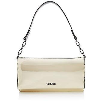 Calvin Klein Instant Clutch On Chain Metalic - Pochette da giorno Donna Oro (Light Gold) 5x14x27 cm (B x H T)