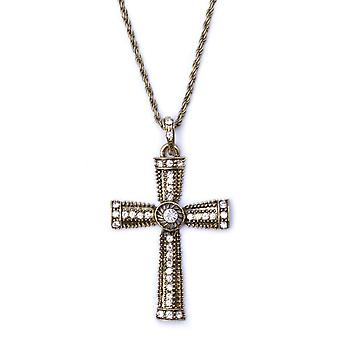 Bristol Novelty Diamante Jewelled Cross halskæde