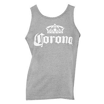 Corona Beer Crown Logo Men's Grey Tank Top