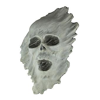 White 3D Ghostly Skull Creepy Decor Wall Hanging